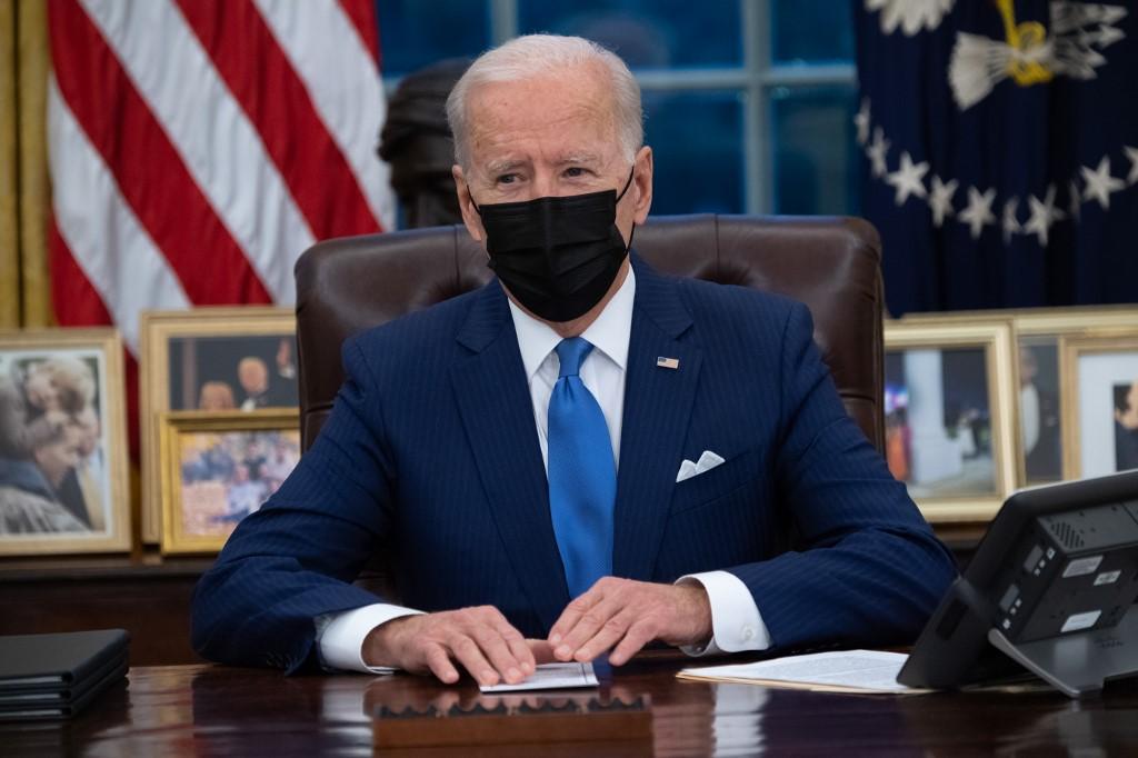 Tổng thống Joe Biden tại Nhà Trắng ngày 2/2. Ảnh: AFP.