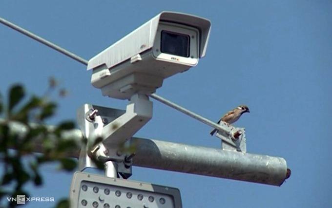Camera được lắp đặt trên cao tốc Nội Bài - Lào Cai. Ảnh:Sơn Hải