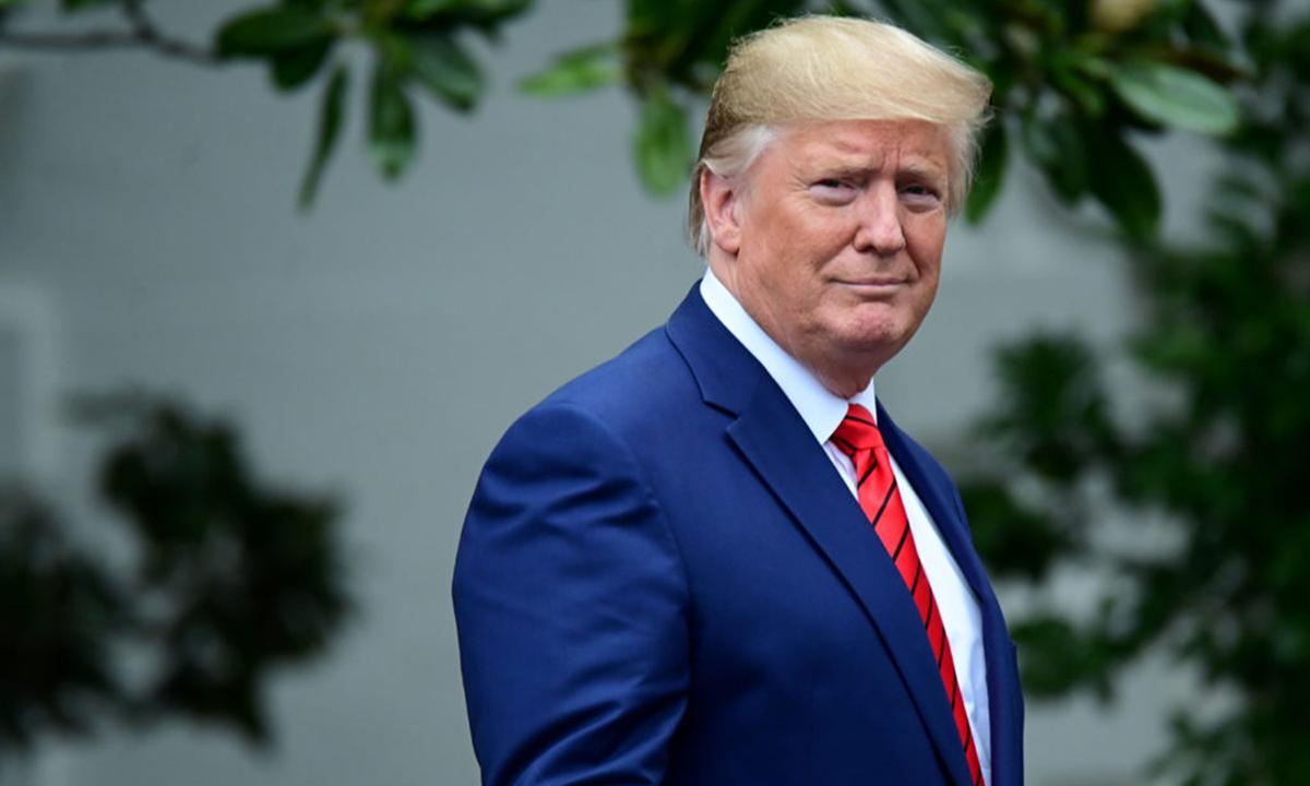 Cựu tổng thống Donald Trump tại khuôn viên Nhà Trắng hồi tháng 9/2019. Ảnh: Reuters.