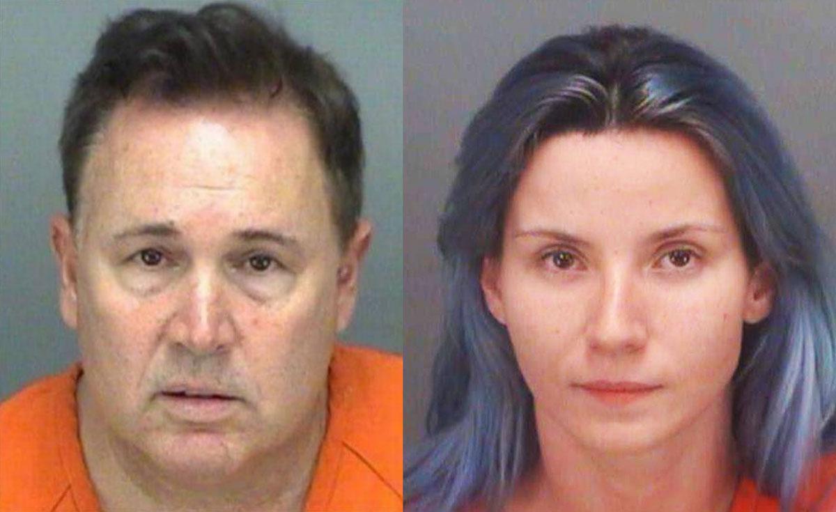 Andrew Spark (trái) bị phát hiện sau khi mời Shauna Boselli, diễn viên phim khiêu dâm, tham gia đóng phim. Ảnh: Hillsborough County Sheriffs Office.