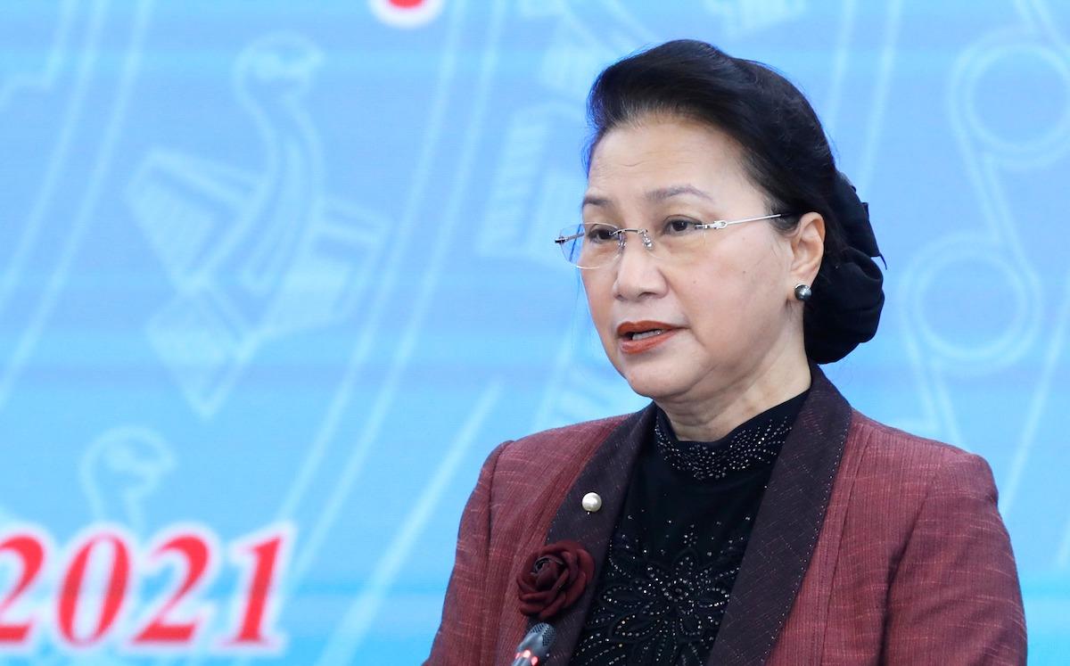 Chủ tịch Quốc hội, Chủ tịch Hội đồng bầu cử Quốc gia Nguyễn Thị Kim Ngân. Ảnh: Quang Vinh