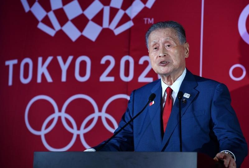 Yoshiro Mori, chủ tịch Ủy ban Tổ chức Olympics Tokyo 2020, phát biểu tại sân vận động Tokyo hồi tháng 7/2019. Ảnh: AFP.