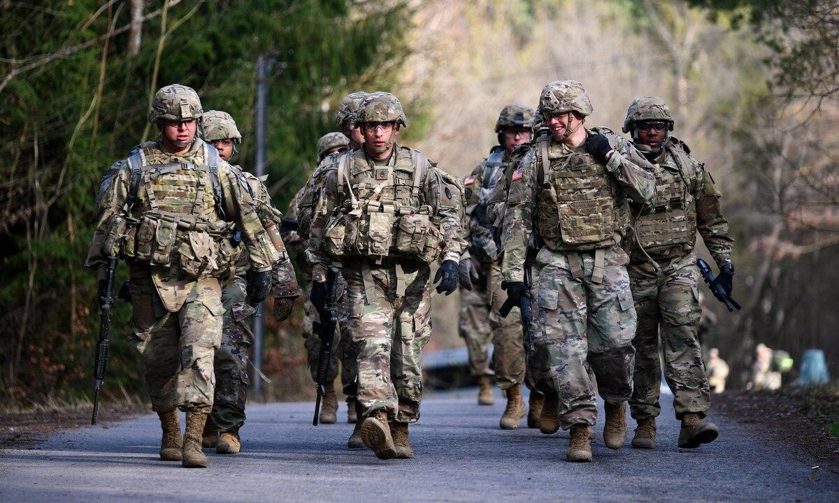 Binh sĩ Mỹ tham gia một cuộc thi tại căn cứ Stuttgart, Đức, tháng 3/2020. Ảnh: US Army.
