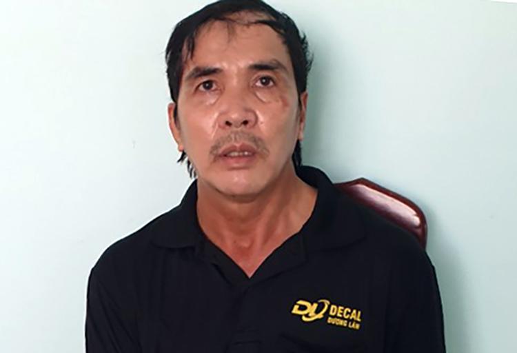 Nguyễn Văn Tý tại cơ quan công an. Ảnh: Lan Vy