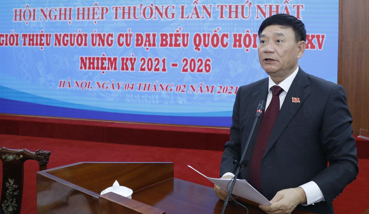 Ông Trần Văn Túy, Trưởng ban Công tác đại biểu, Ủy viên Hội đồng bầu cử Quốc gia. Ảnh: Quang Vinh