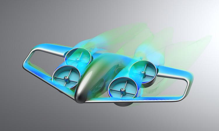 Ý tưởng thiết kế Skybus, xe buýt điện cất hạ cánh thẳng đứng. Ảnh: GKN Aerospace.