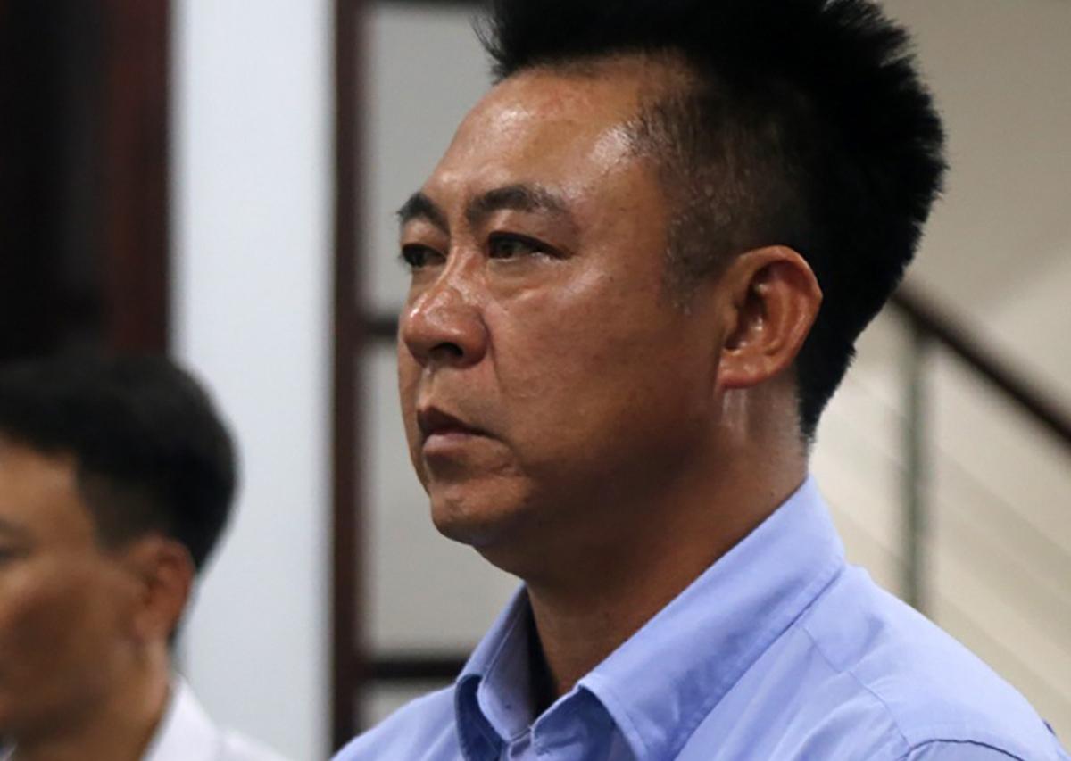 Ông Đinh Tiến Sử tại TAND TP Nha Trang trong phiên xử vụ án