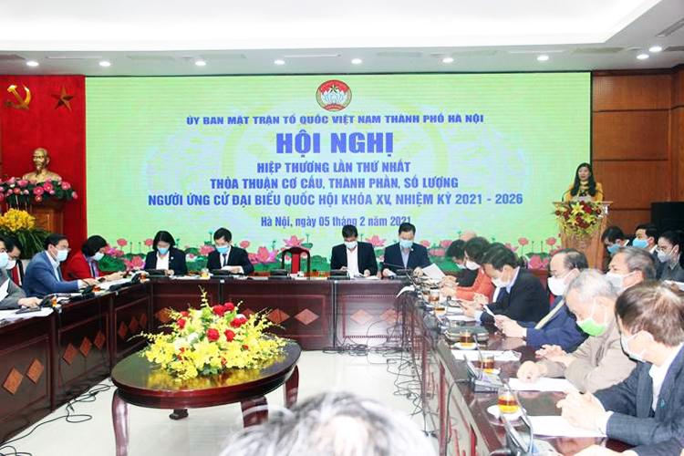 Các đại biểu đã đề nghị bổ sung cơ cấu MTTQ TP tham gia Quốc hội. Ảnh: MTTQ TP Hà Nội.
