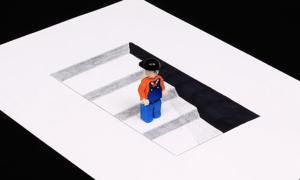 Vẽ tranh 3D chỉ bằng những nét thẳng