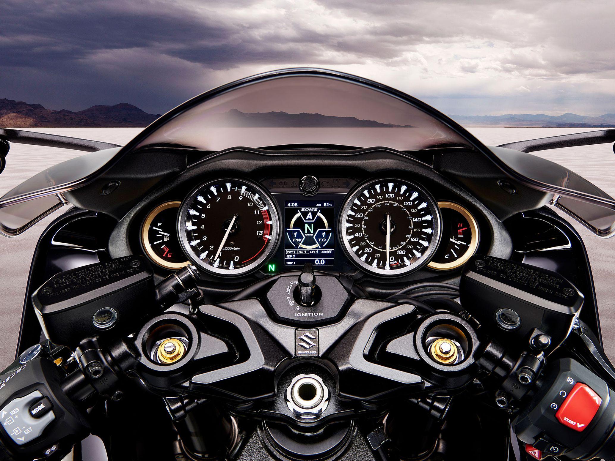 Đồng hồ tốc độ trên Hayabusa thế hệ mới.
