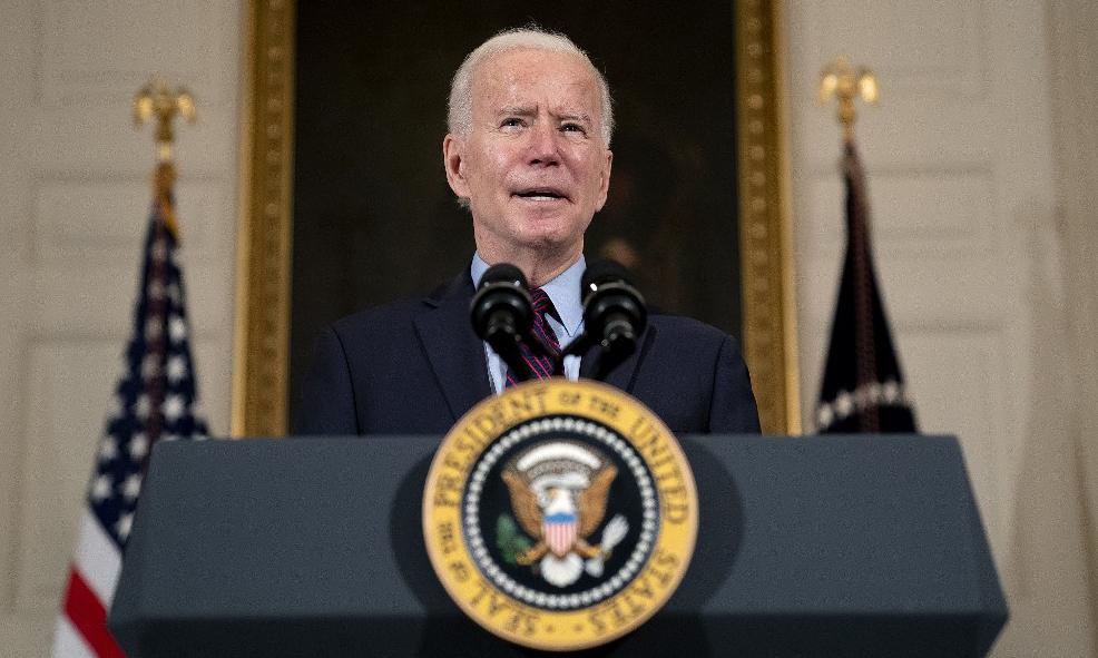 Tổng thống Mỹ Joe Biden phát biểu tại Nhà Trắng hôm 5/2. Ảnh: AFP.