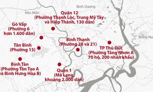 Bản đồ các điểm phong tỏa tại TP HCM