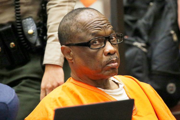 Franklin J.r lạnh lùng khi ra tòa tháng 5-2016. Ảnh: Los Angeles Times