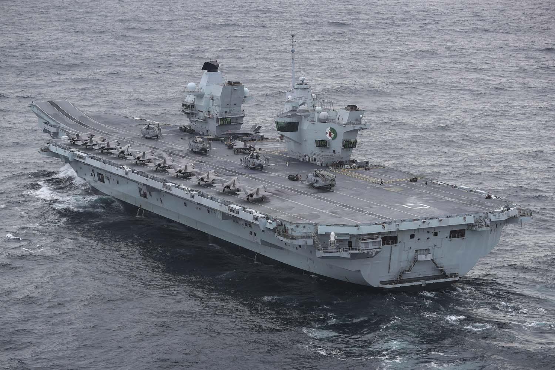 Tàu sân bay HMS Queen Elizabeth trong cuộc diễn tập ở Biển Bắc tháng 10/2020. Ảnh: Royal Navy.