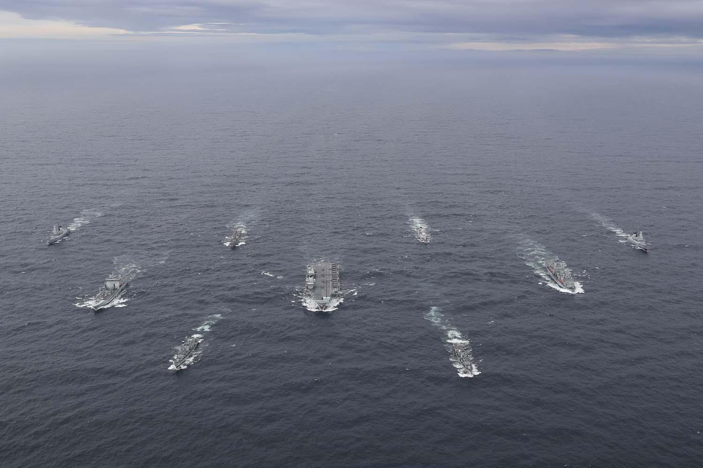 Nhóm tác chiến tàu sân bay HMS Queen Elizabeth diễn tập ở Biển Bắc tháng 10/2020. Ảnh: Royal Navy.