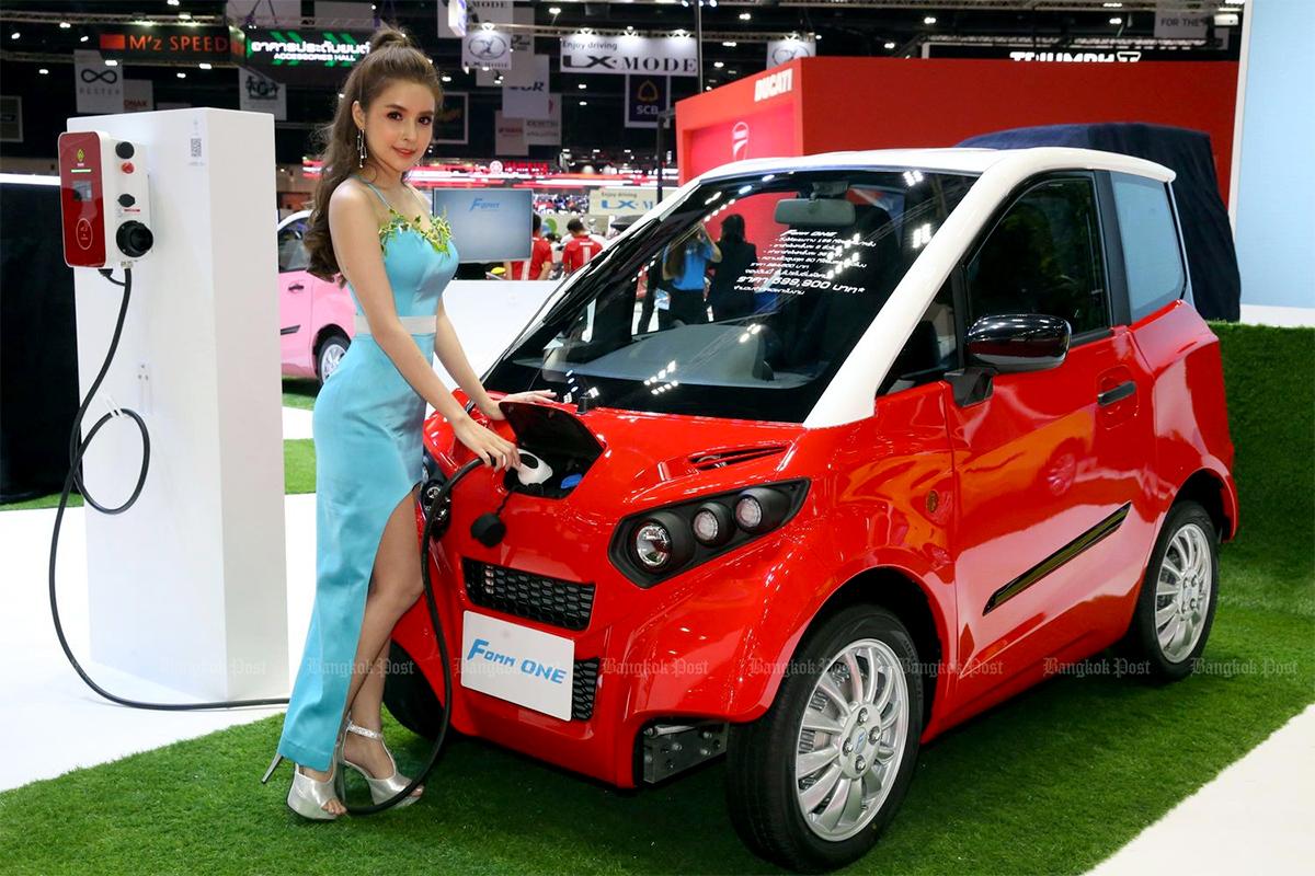Fomm One, mẫu ô tô điện sản xuất tại Thái Lan bởi liên doanh Thái-Nhật Fomm (Asia) Co. Ảnh: BangkokPost