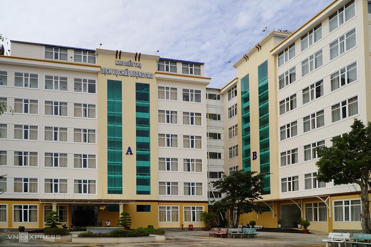 Khu điều trị dịch vụ chất lượng cao được trưng dụng làm Bệnh viện đã chiến điều trị bệnh nhân Covid -19 ở Gia Lai. Ảnh: Trần Hóa.
