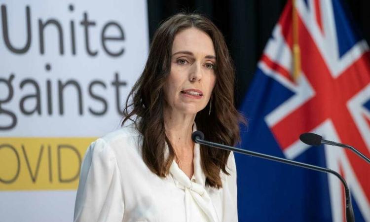 Thủ tướng New Zealand Jacinda Ardern phát biểu tại cuộc họp báo ở Wellington hồi tháng 4/2020. Ảnh: AFP.