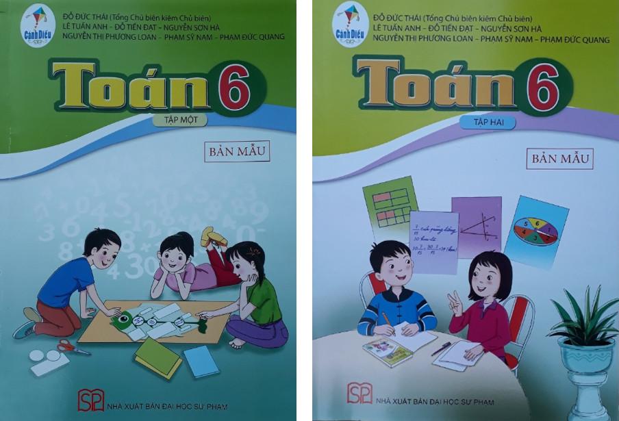 Bản mẫu sách Toán của Nhà xuất bản Đại học Sư phạm Hà Nội.
