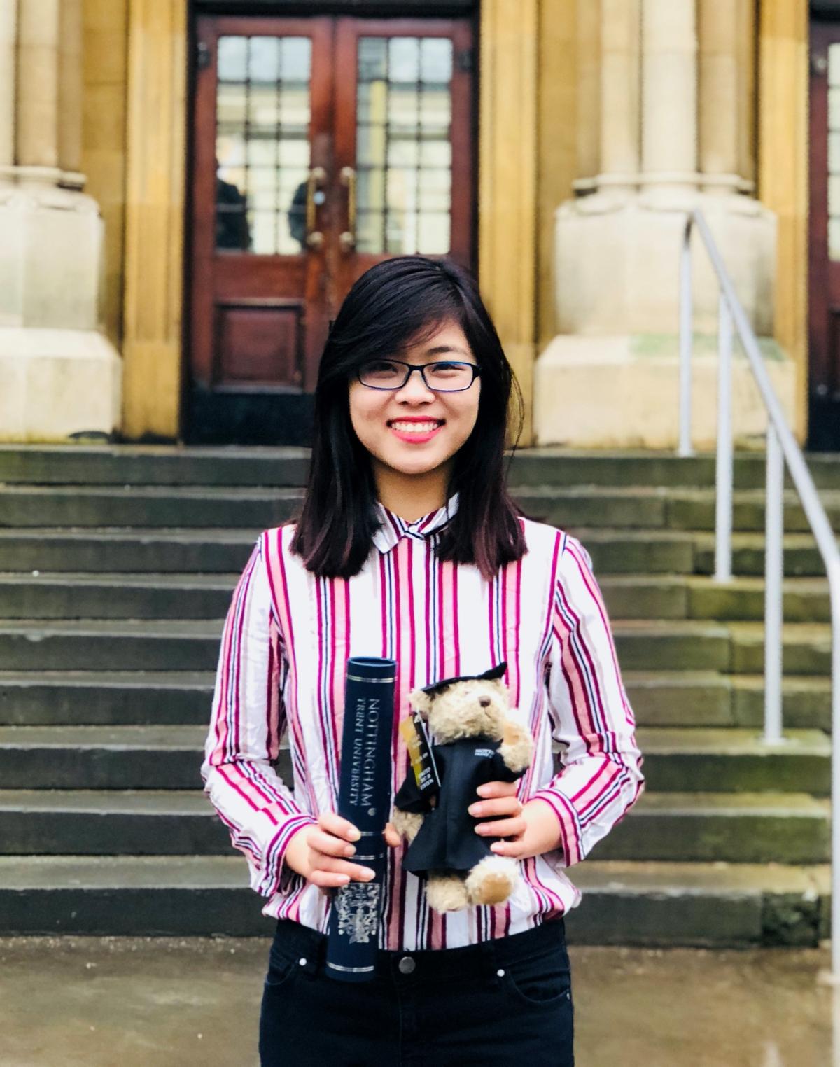 Chị Hoàng Ngọc Quỳnh, nghiên cứu sinh Đại học Lancaster, Anh. Ảnh: Nhân vật cung cấp