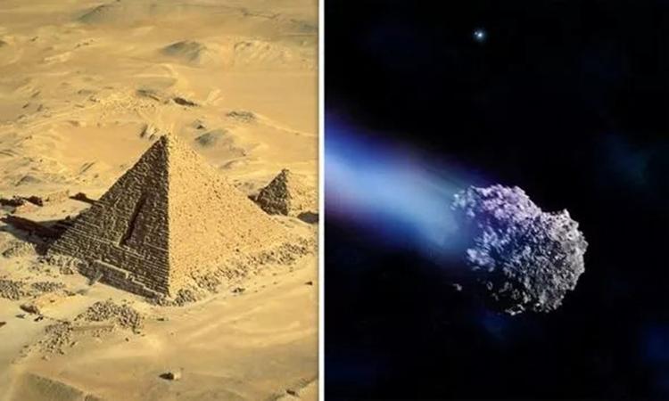 Tiều hành tinh 2019 YP5 có kích thước tương đương Đại kim tự tháp Giza. Ảnh: Express.