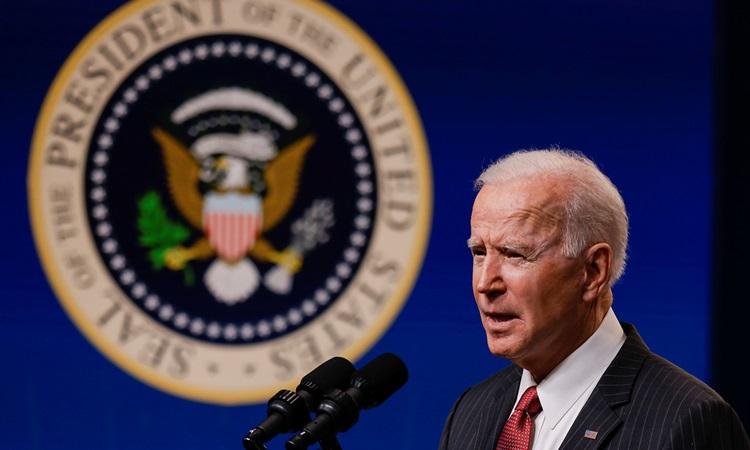 Tổng thống Mỹ Joe Biden phát biểu về Myanmar tại Nhà Trắng hôm 10/2. Ảnh: AFP.