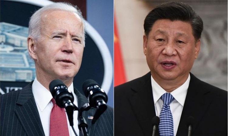 Tổng thống Mỹ Joe Biden (trái) và Chủ tịch Trung Quốc Tập Cận Bình. Ảnh: AFP.
