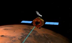 Thước phim ghi hình tàu Trung Quốc tiến vào quỹ đạo sao Hỏa
