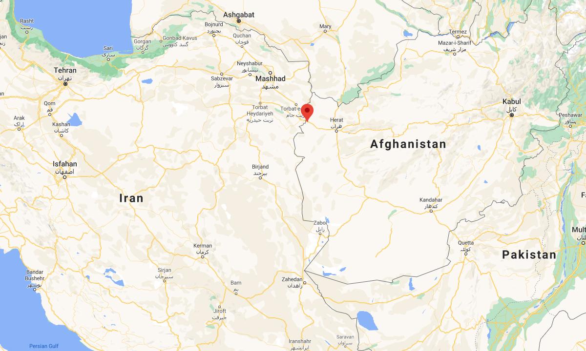 Vị trí cửa khẩu Islam Qala (đánh dấu đỏ). Đồ họa: Google.