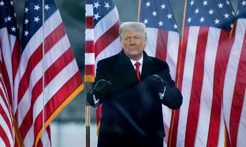 Trump xuất hiện trước người ủng hộ ở thủ đô Washington hôm 6/1. Ảnh: AFP.