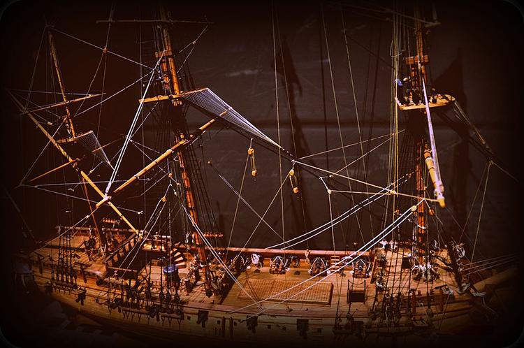 Một mô hình tàu cướp biển Whydah. Ảnh: Wikipedia.