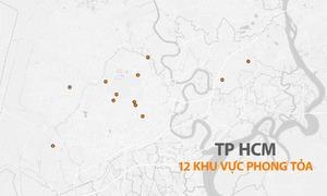 TP HCM còn 12 khu vực bị phong tỏa