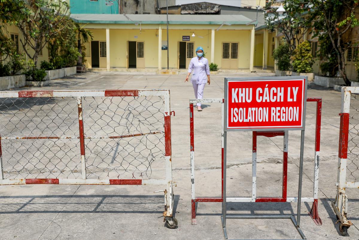 Khu cách ly tập trung của quận 3 ở sô 108 đường Trần Quang Diệu, tháng 3/2020. Ảnh: Quỳnh Trần.