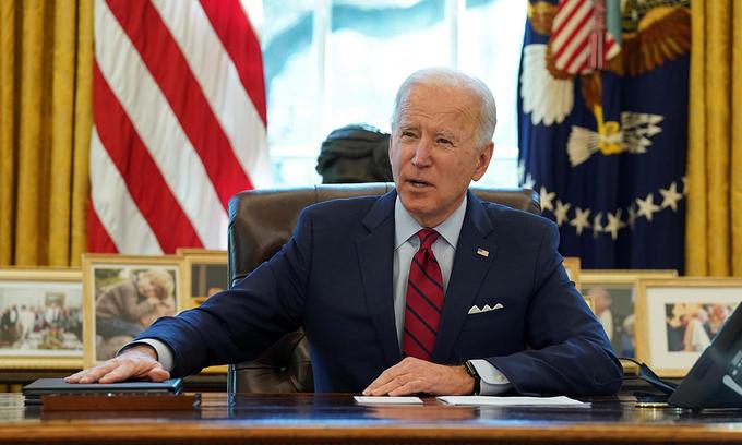 Tổng thống Joe Biden tại Nhà Trắng, thủ đô Washington, hôm 28/1. Ảnh: Reuters.