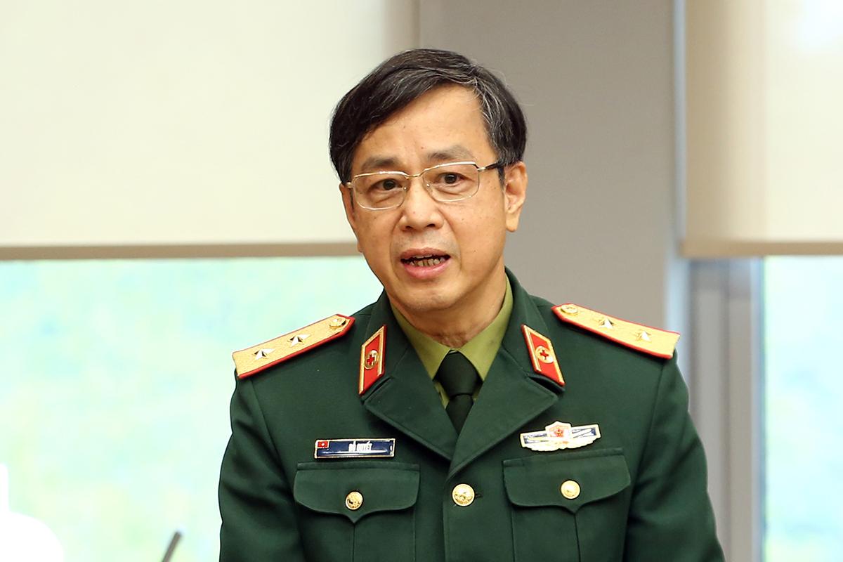 Trung tướng Nguyễn Quyết, giám đôc Học viện Quân y. Ảnh: Đình Nam