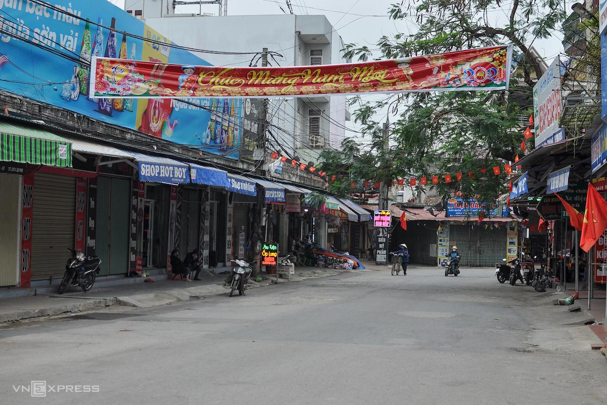 Khu phố vắng người ở tỉnh Hải Dương. Ảnh: Hà Bi