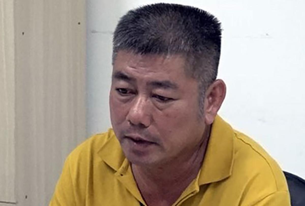 Phan Thanh Hữu được xác định cầm đầu đường dây sản xuất xăng giả. Ảnh: Thái Hà