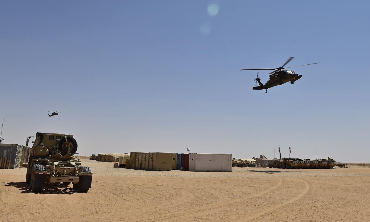 Một góc căn cứ của Mỹ tại sân bay quân sự Prince Sultan ở Arab Saudi hồi năm 2020. Ảnh: USAF.