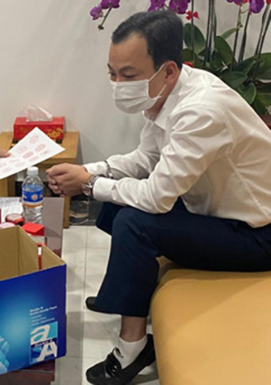 Lê Thanh Trung bị bắt hôm 18/2. Ảnh: Công an cung cấp.