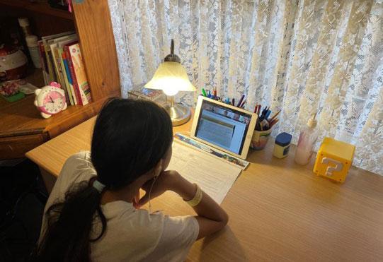 Học sinh tiểu học Australia học online. Ảnh: Thoại Giang.