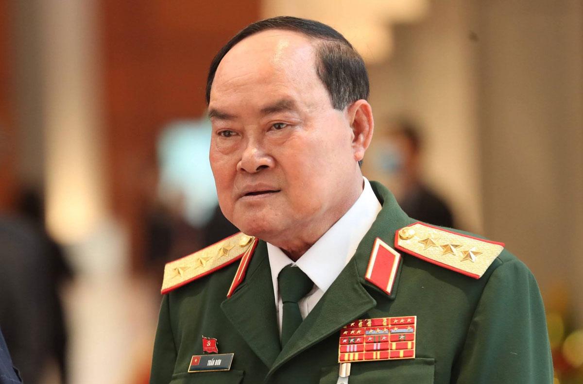 Thượng tướng Trần Đơn, Thứ trưởng Quốc phòng, Trưởng Ban chỉ đạo phòng, chống Covid-19 của Quân đội. Ảnh: Hoàng Phong