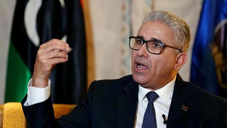 Bộ trưởng Nội vụ Libya Bashagha trả lời phỏng vấn ở Tunisa hồi tháng 3/2020. Ảnh: Reuters