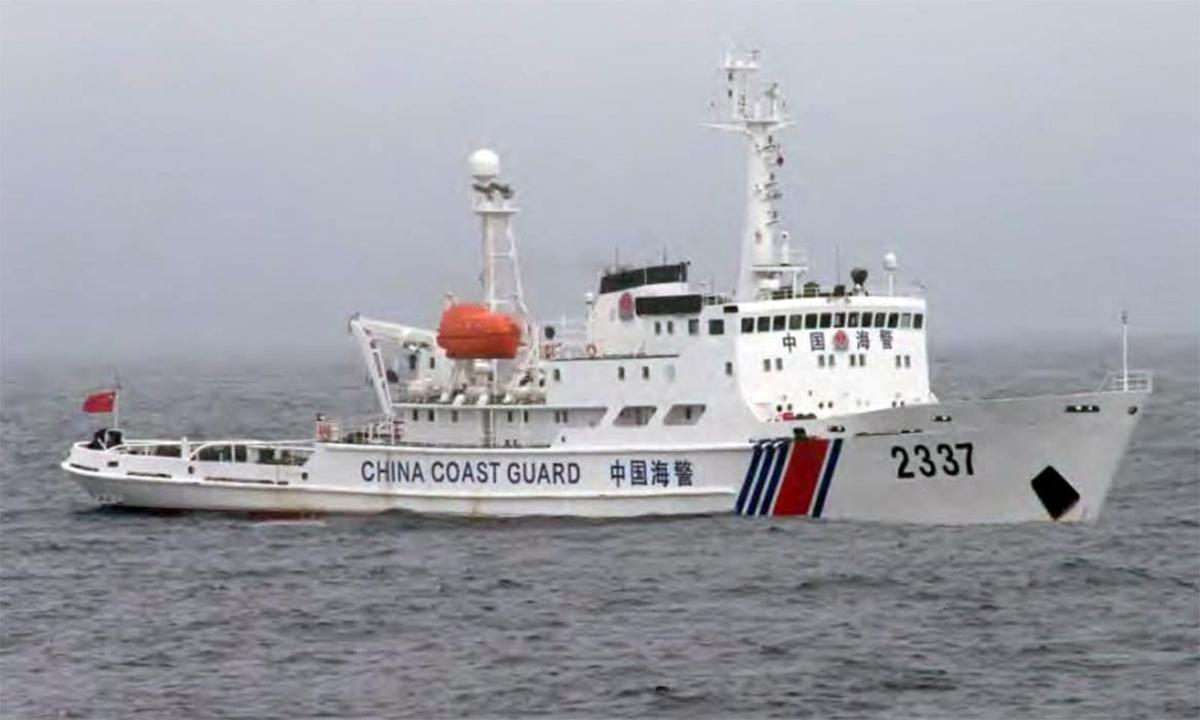 Tàu hải cảnh Trung Quốc hoạt động gần nhóm đảo Senkaku/Điếu Ngư, tháng 11/2013. Ảnh: JCG.