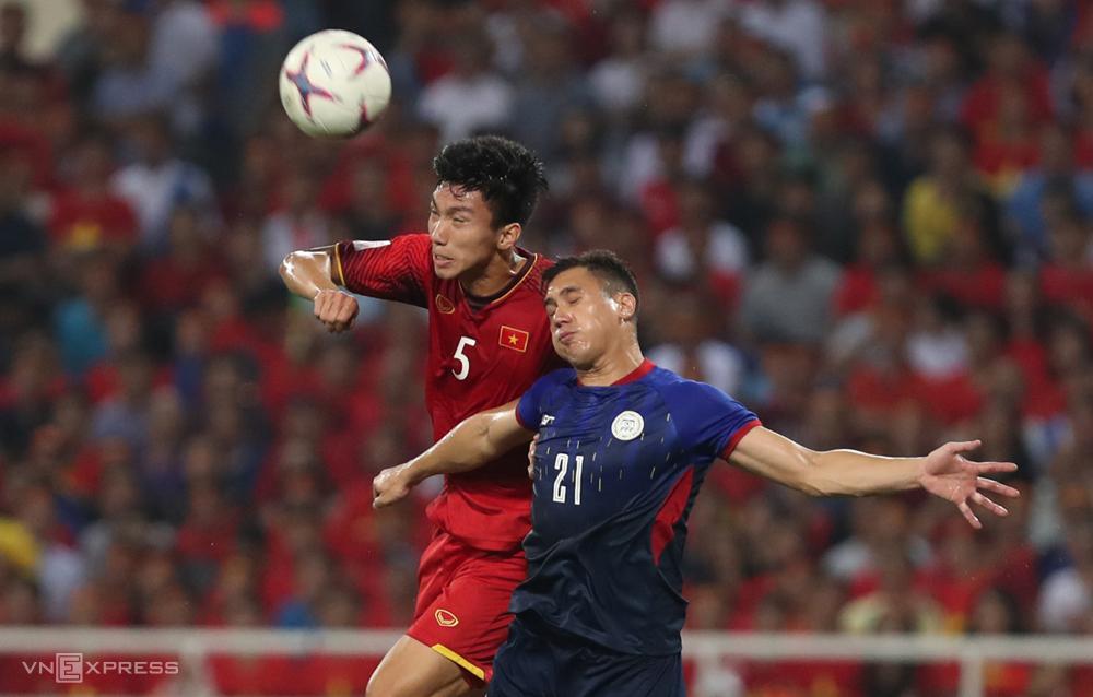 Dinh Trong ได้แสดงในทุกการแข่งขันของทีมเวียดนามตั้งแต่ Coach Park Hang-seo เป็นโค้ช  ภาพ: ลำทอ