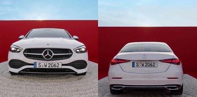 Thiết kế trước và sau của C-class 2021.
