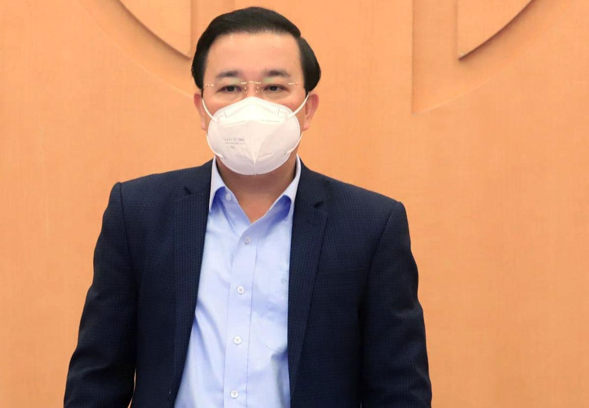Trưởng ban chỉ đạo phòng, chống dịch Covid 19 TP Hà Nội Chử Xuân Dũng. Ảnh: Công Thọ.