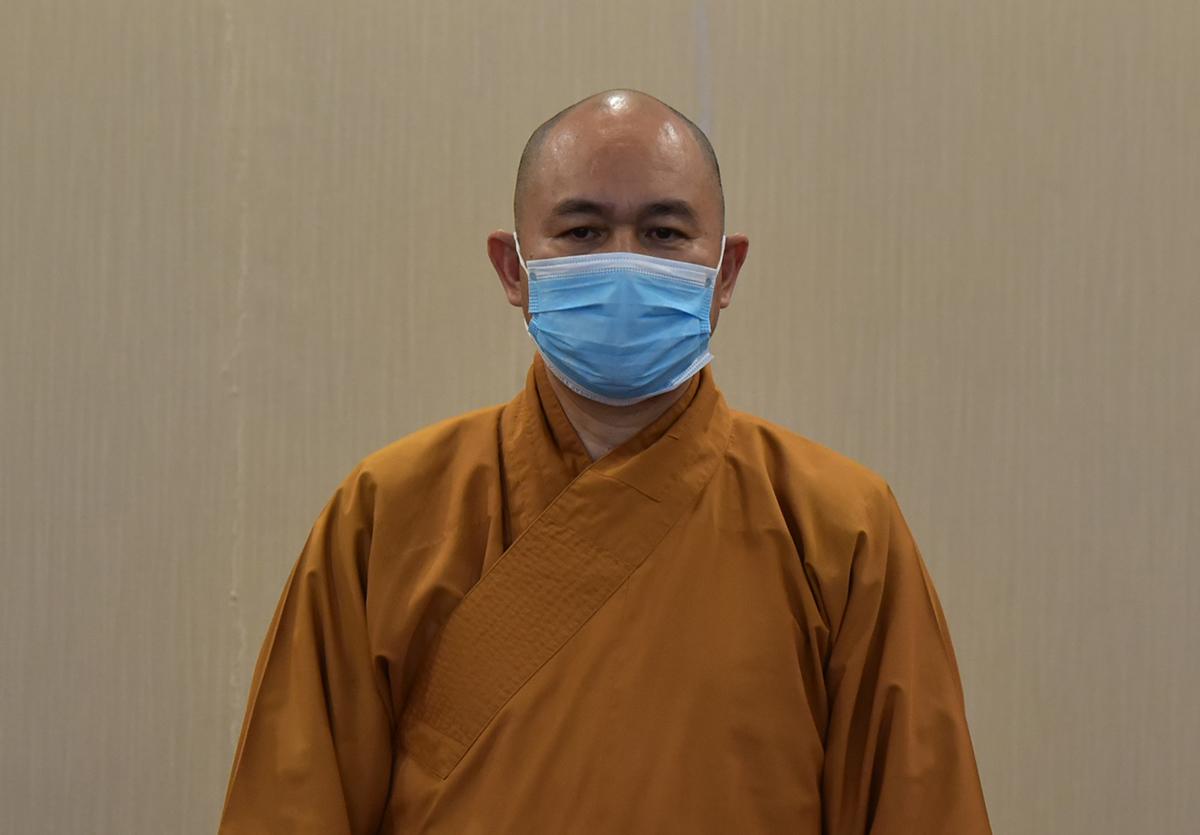 Thượng tọa Thích Đức Thiện, Phó chủ tịch kiêm tổng thư ký Hội đồng trị sự Giáo hội Phật giáo Việt Nam. Ảnh: Quang Tấn