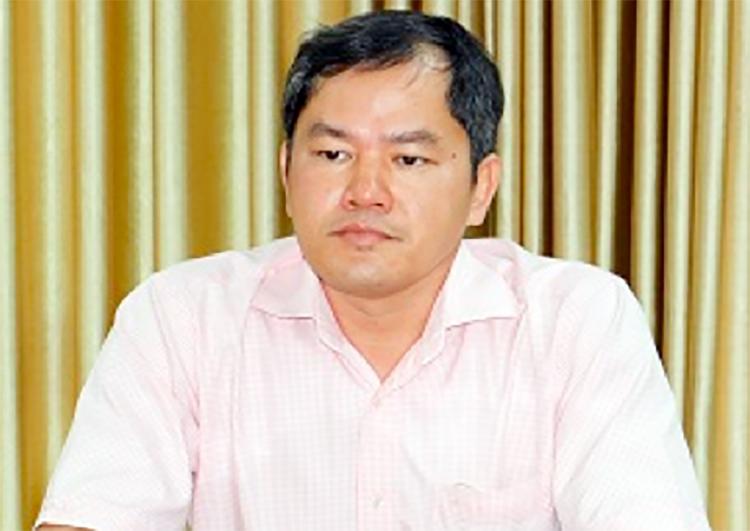Nguyễn Xuân Huy tại Cơ quan điều tra. Ảnh: Công an cung cấp