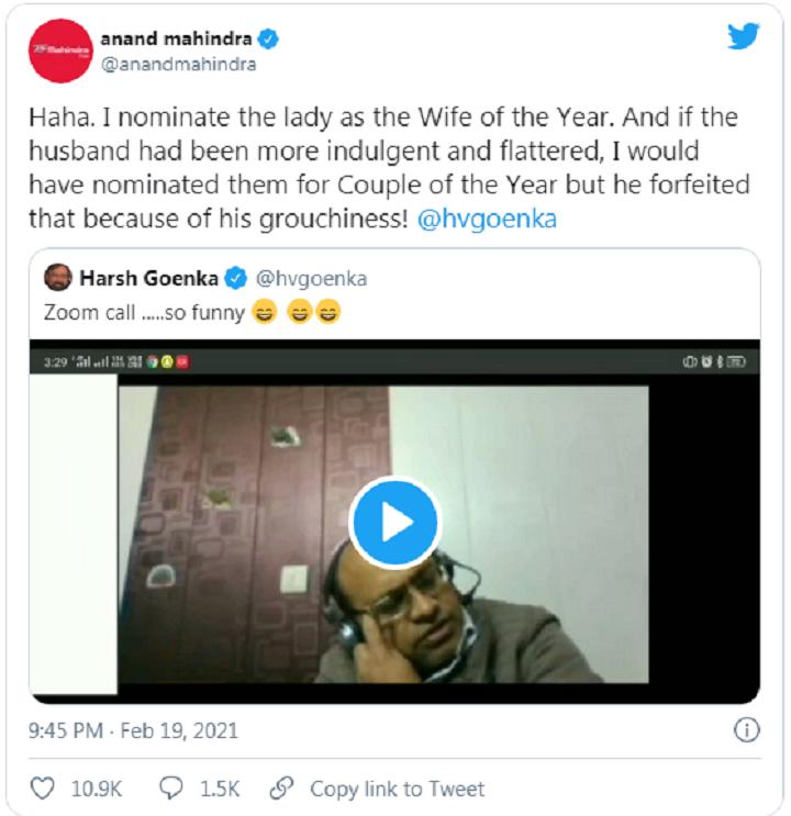 Tỷ phú Anad Mahindra, chủ tịch Mahindra Group, cũng đăng tải lại video.