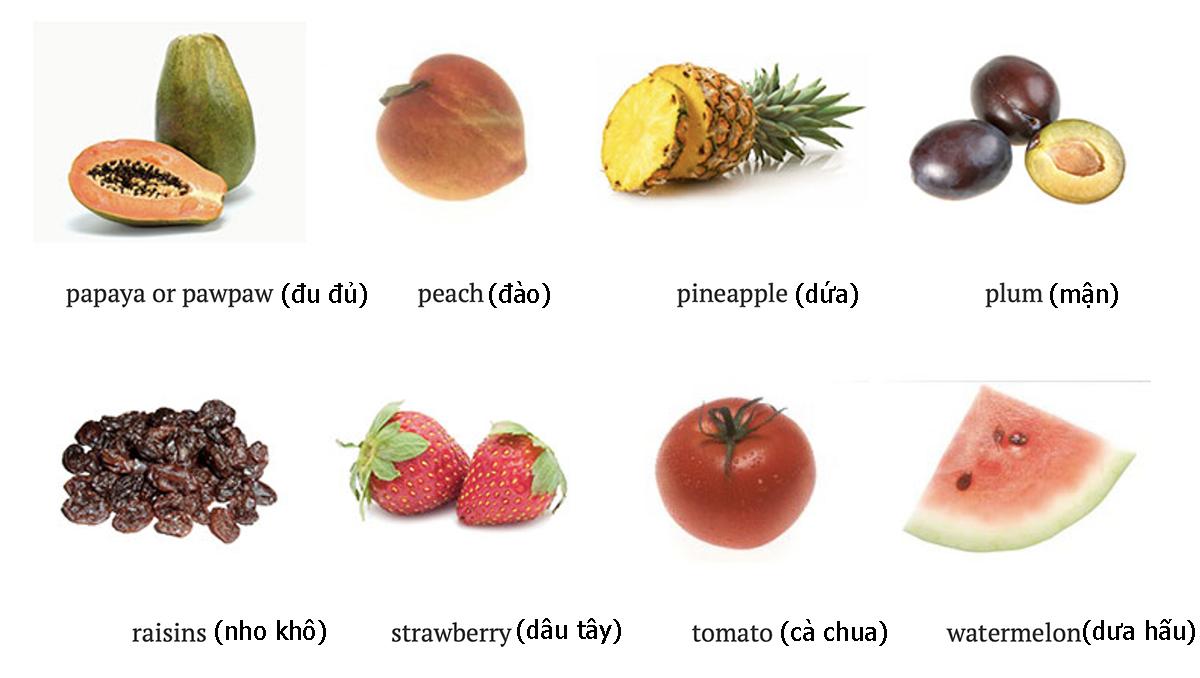 Tên 24 loại quả trong tiếng Anh - 4